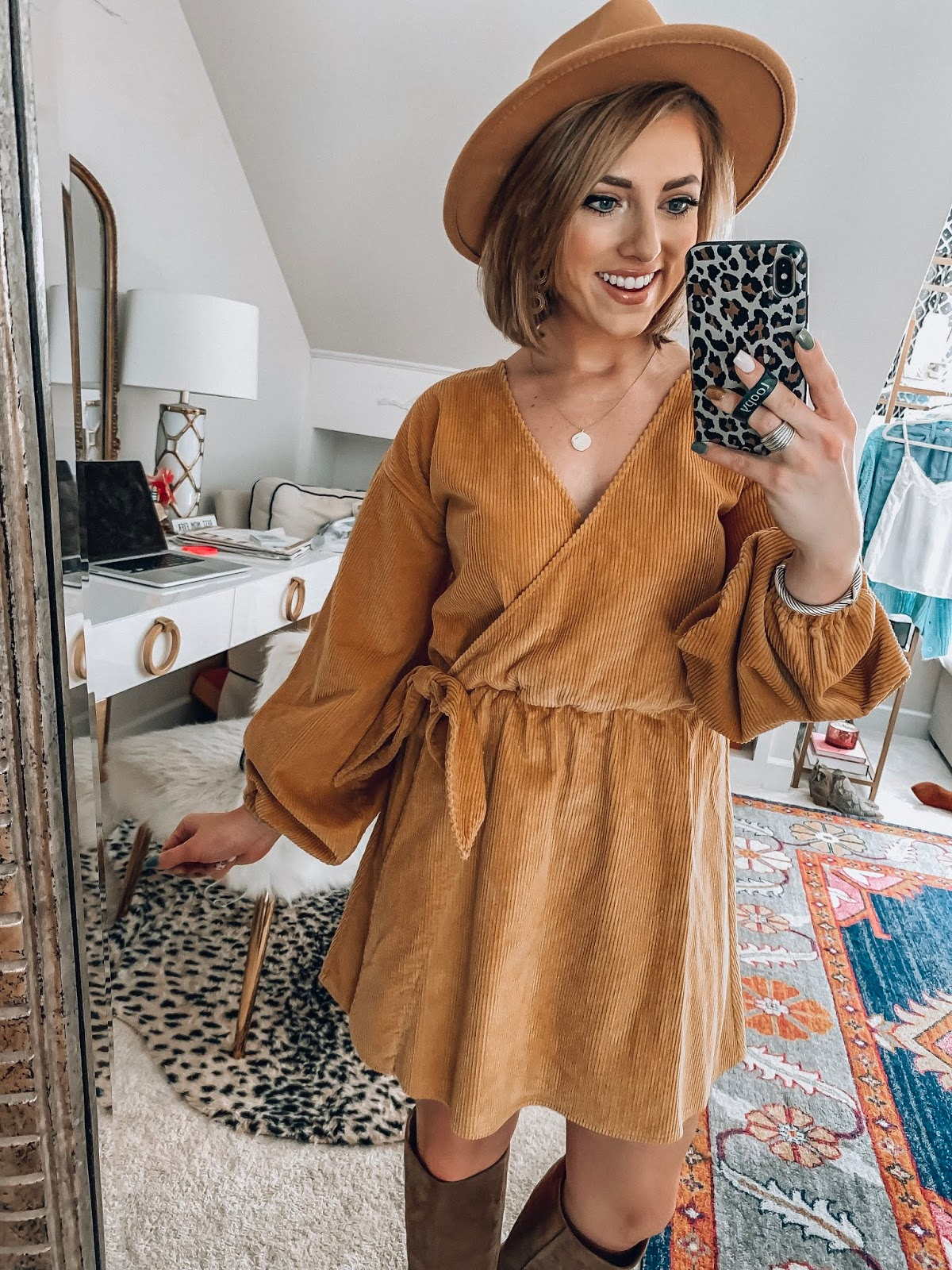 ASOS New Fall Arrivals - $51 Wrap Corduroy Dress - Something Delightful Blog #fallstyle #affordablefashion