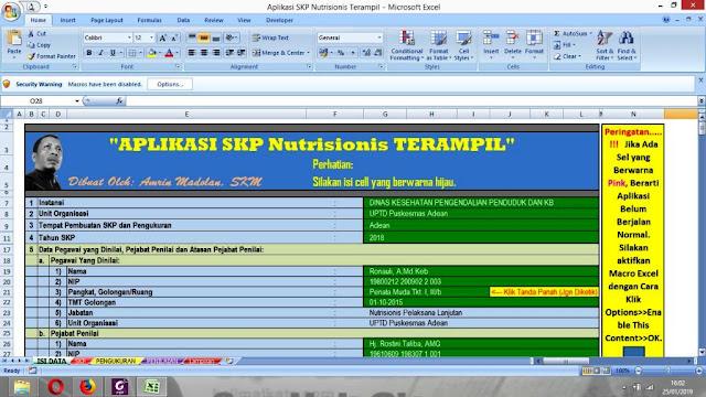 Aplikasi SKP Nutrisionis Trampil