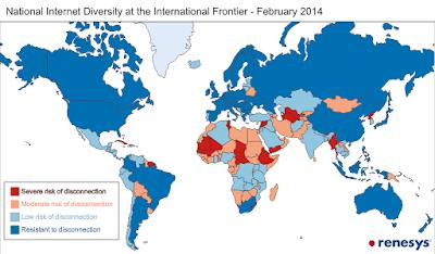 Países bloquean Internet