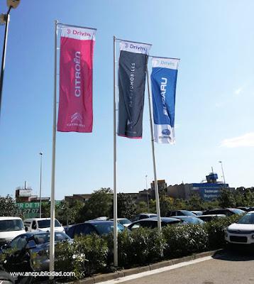 banderas para publicidad