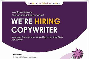 Lowongan Kerja Copy Writer Sakeena Bandung