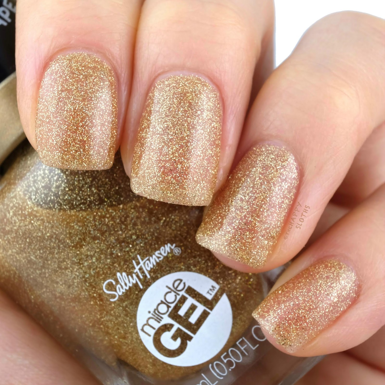 Sally Hansen   Holiday 2019 Oh My Gold! Miracle Gel Collection   155 Five Golden Blings: Review and Swatches