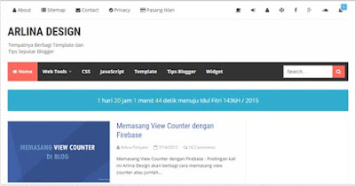Premium Blogger Template Arlina Design