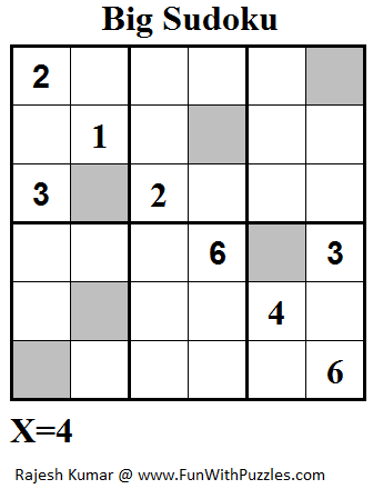Big Sudoku (Mini Sudoku Series #52)