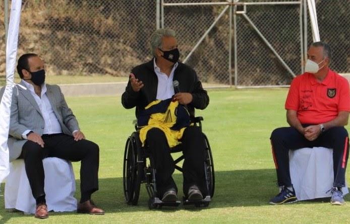 Lenín Moreno visitó a la selección de Ecuador