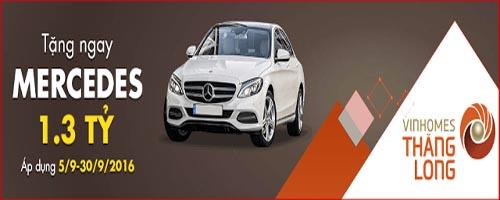 Mua Vinhomes Thăng Long nhận xe Mercedes