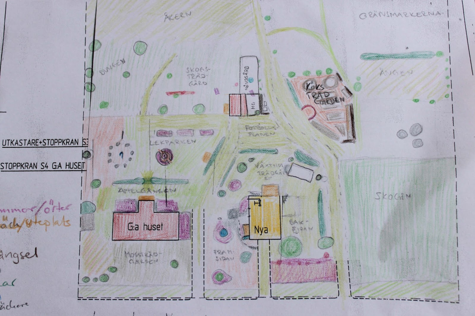 Familjen W på Hallonbacken: Trädgårdsdesign