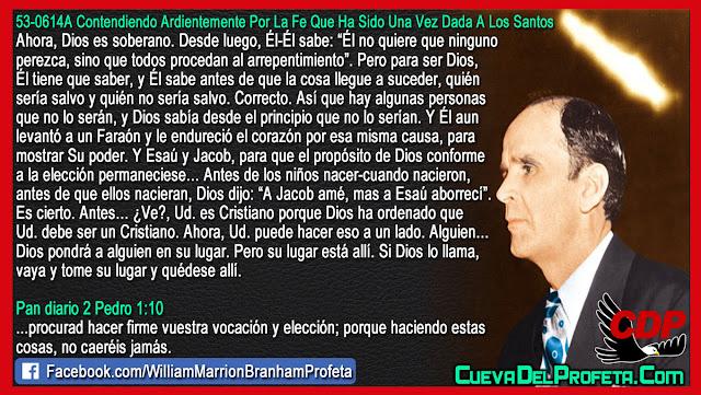 Usted es Cristiano porque Dios lo ha ordenado - Citas William Branham Mensajes