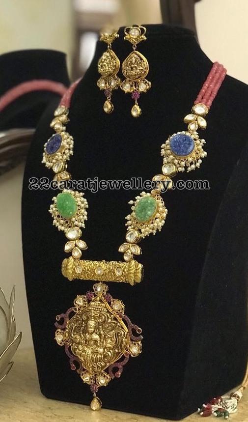 Emerald Blue Sapphire Long Set