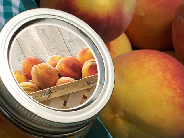 Market Fresh Peach mason jar labels