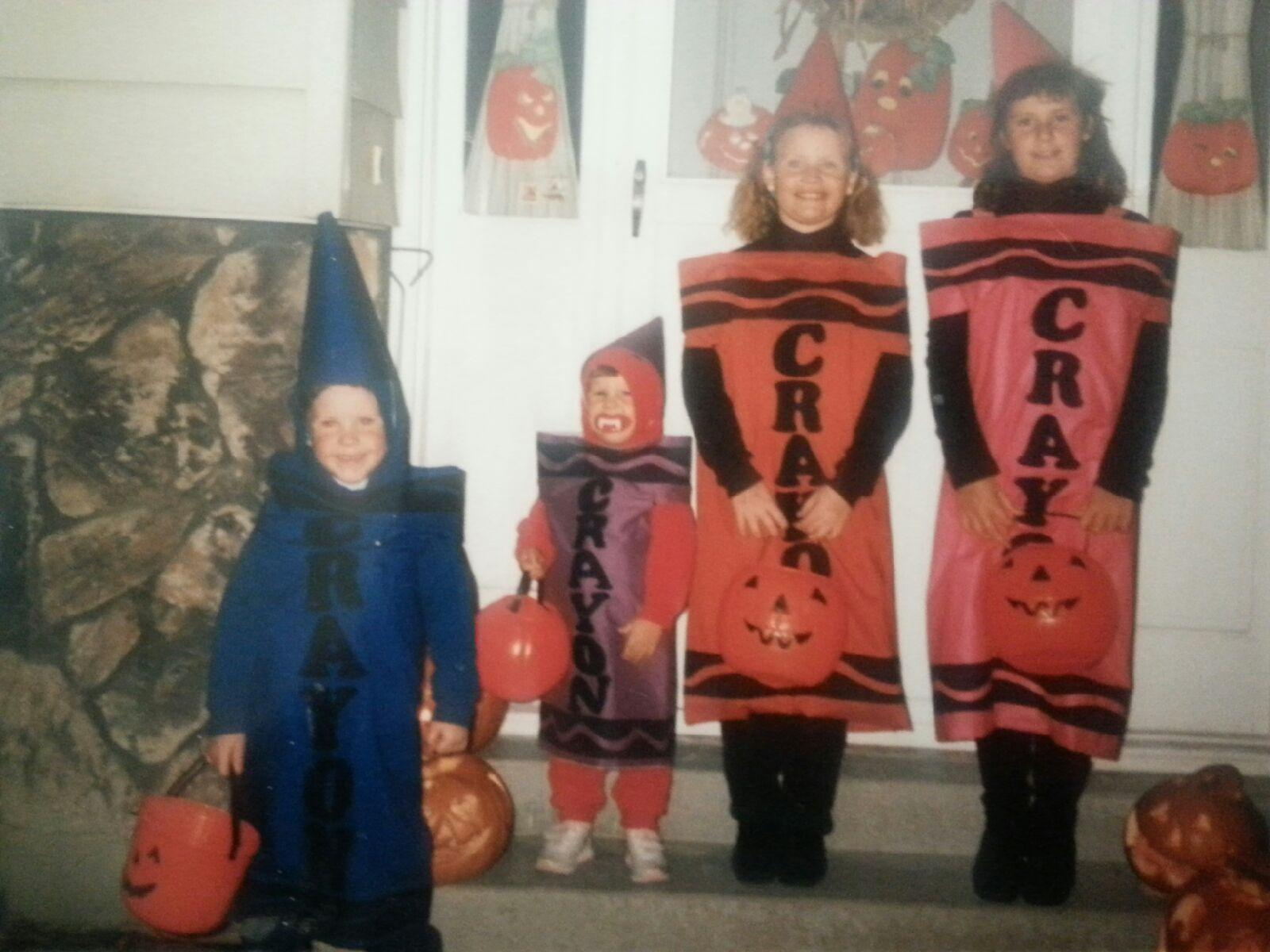 116c09cf Color me surprised Excellent orange crayon costume Source · It Just Gets  Stranger Halloween Costumes