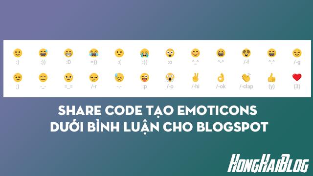 Share Code Tạo Emoticons Dưới Bình Luận Cho Blogspot