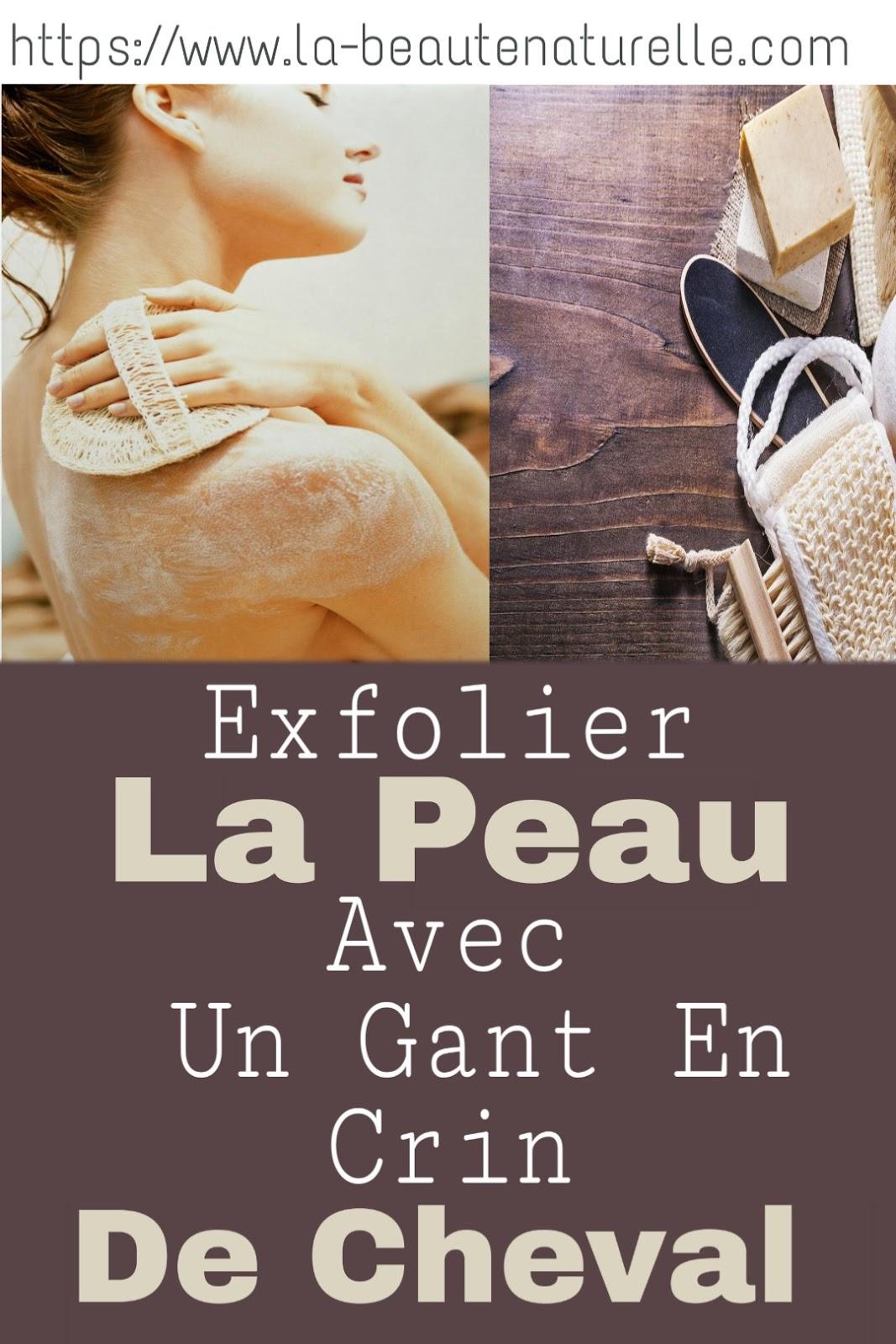 Exfolier La Peau Avec Un Gant En Crin De Cheval