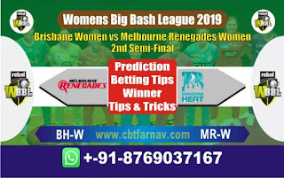 Womens Big Bash Semi Final 2019 Renegades vs Brisbane Today Match Prediction