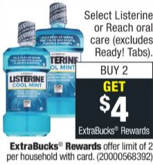 Select Listerine or Reach Oral Care.
