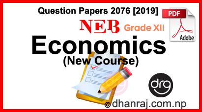 Economics-New-Course-Class-12-Question-Paper-2076-2019-Sub-Code-226B-NEB