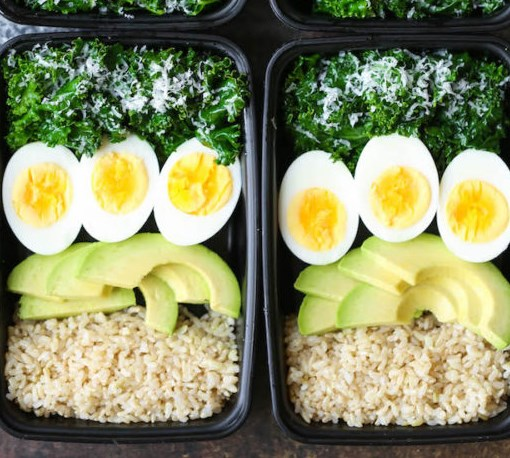 AVOCADO AND EGG BREAKFAST MEAL PREP #healthy #diet