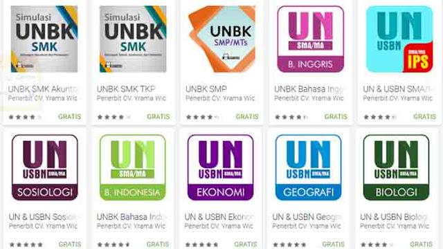 Aplikasi Android Simulasi UNBK 2018 untuk SMP SMA dan SMK