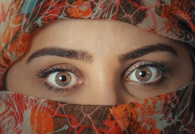 Beauty Close up Eyebrows Eyes HD Copyright Free Image