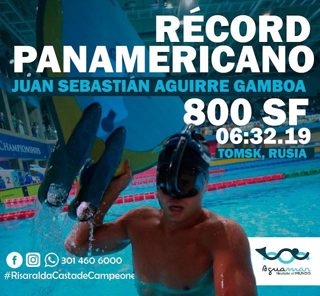 Nadador risaraldense logra nuevo récord panamericano