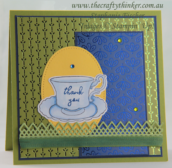 #thecraftythinker  #stampinup  #cardmaking  #teatogether  #noblepeacock , Tea Together, Noble Peacock SDSP, Delicate Lace, Stampin' Up Demonstrator, Stephanie Fischer, Sydney NSW