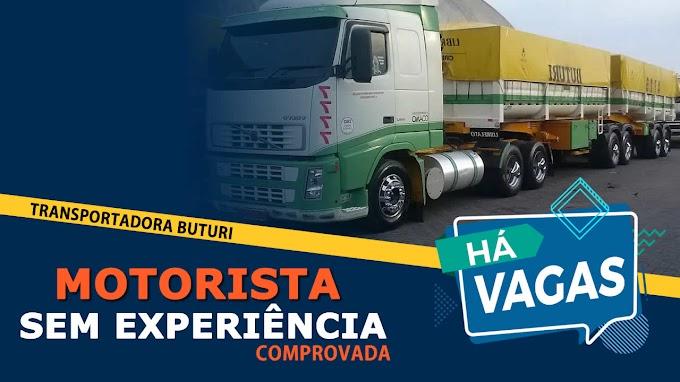 Transportadora Buturi abre vagas para Motorista sem experiência comprovada