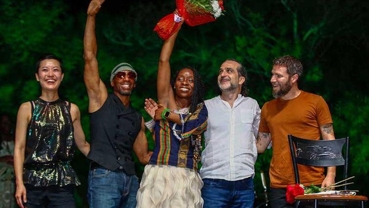 Nigerian-American poet, Iyeoka Okoawa performed at Salamis summer concerts in North Cyprus on Tuesday