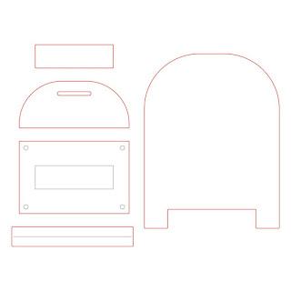 POST BOX CARD BASE | CUTS