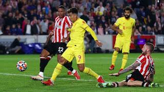 Brentford vs Liverpool kết thúc với tỷ số hòa 3-3