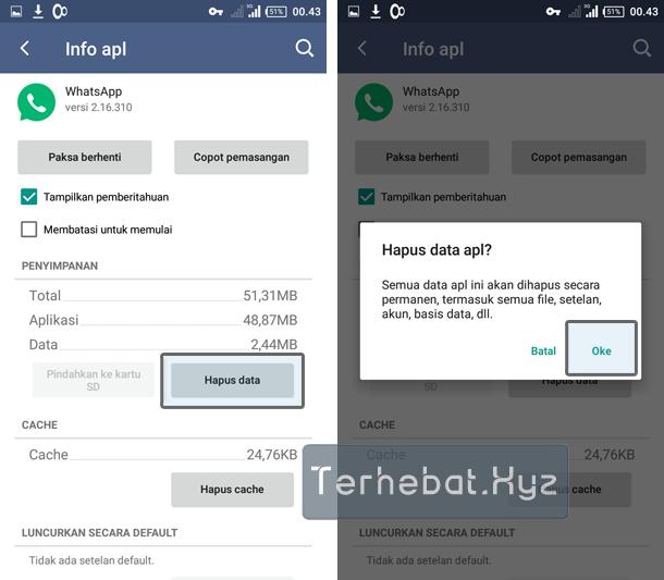 whatsapp tidak bisa dibuka android