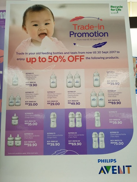 Trade-in Botol Philips Avent dapat 50%