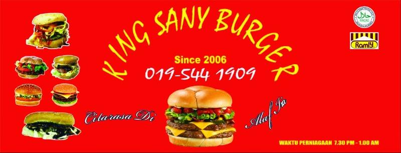 Burger Super King, burger king, burger kambing, burger ikan, burger ayam dan daging.
