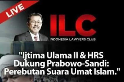 Saksikan ILC Tvone Malam Ini Tentang Ijtima' Ulama, Habib Rizieq Dan Prabowo - Sandi