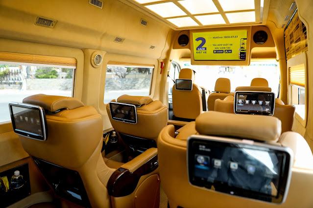Tiện ích trên xe Hải Vân Limousine