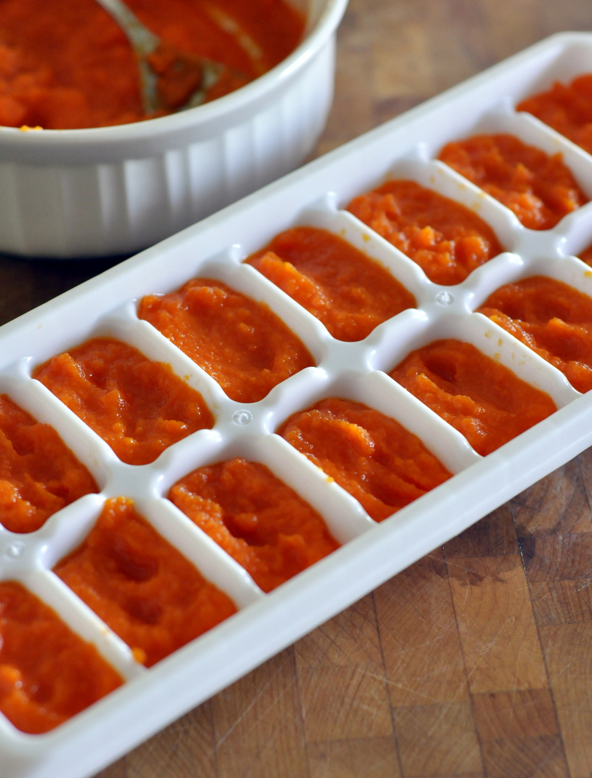 How To Freeze Homemade Baby Food Carrot Puree   Taste As You Go