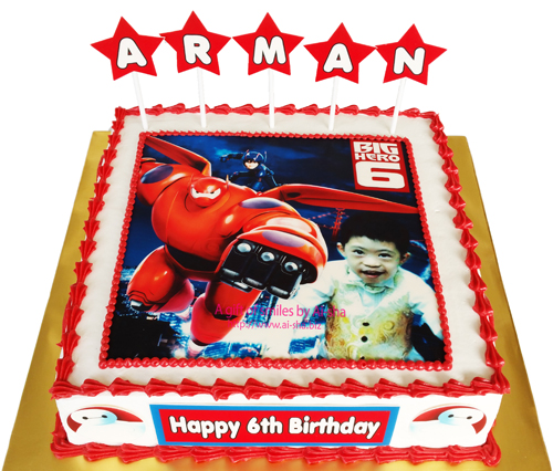 Birthday Cake Edible Image Big Hero 6