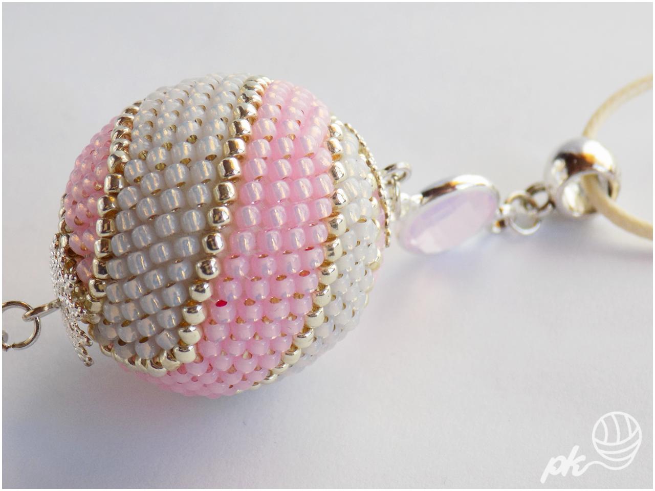 biżuteria, toho, koraliki, beaded ball, chwost, handmade, rękodzieło, wisior,