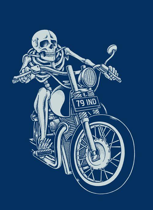 Skeletons on Motorcycles