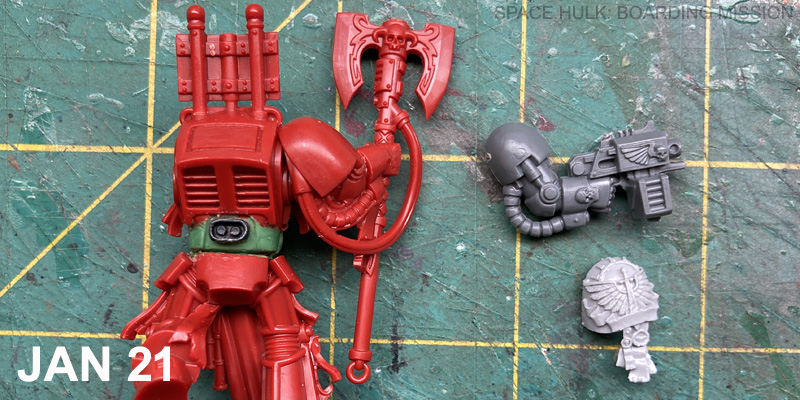 On the Space Hulk: Boarding Mission workbench today