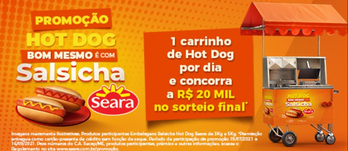 Promoção Salsicha Seara 2021 Carrinhos Hot Dog