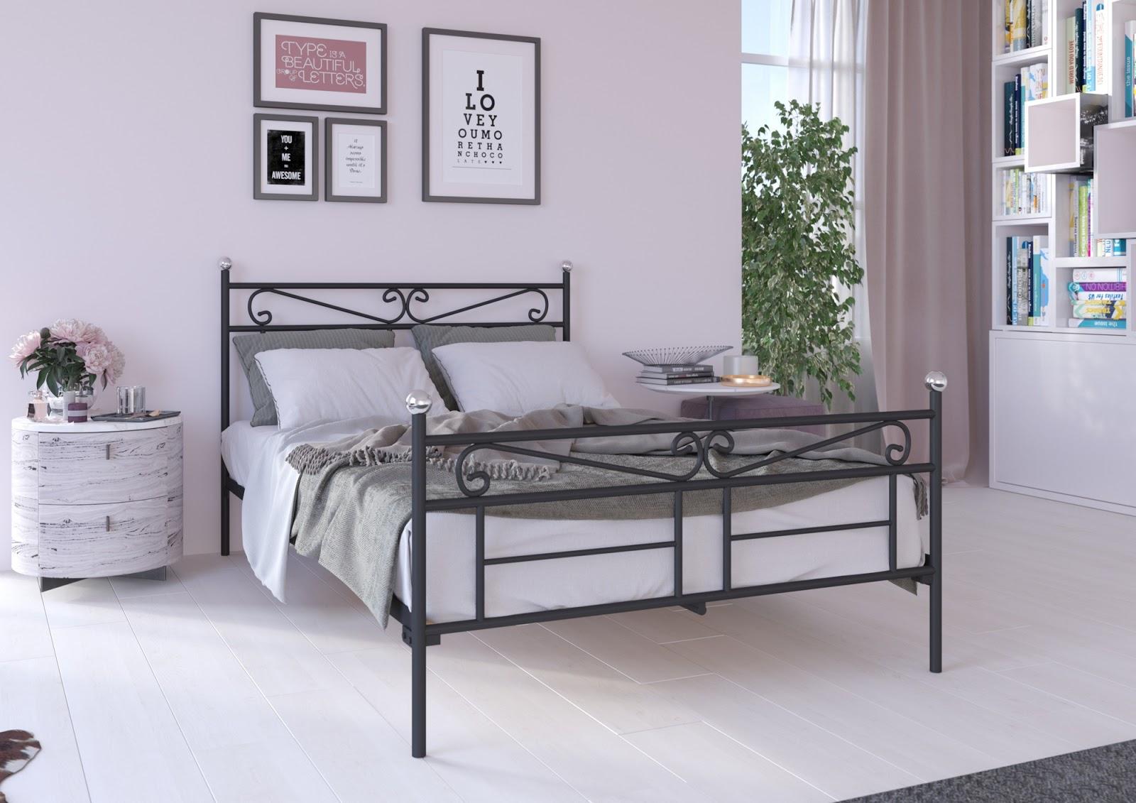 Łóżko metalowe wzór 29