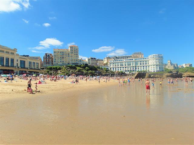 stranden i Biarritz