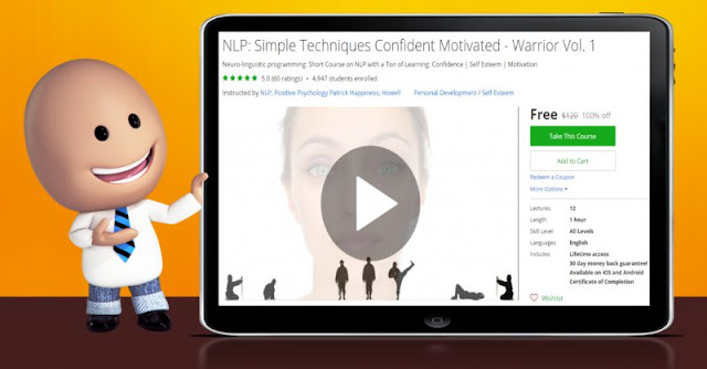 [100% Off] NLP: Simple Techniques Confident Motivated - Warrior Vol. 1| Worth 120$