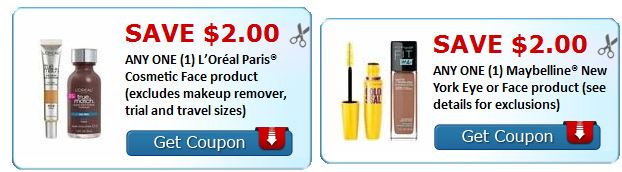print loreal or maybelline makeup coupons