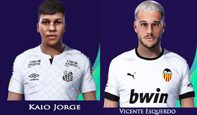 PES 2021 Faces Kaio Jorge & Vicente Esquedero by Rachmad ABs