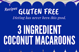 3 Ingredient Coconut Macaroons Gluten free #glutenfree