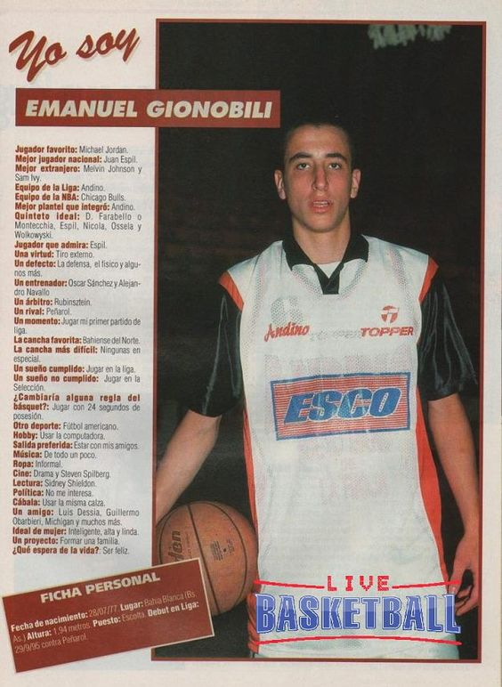 Yo soy Emanuel Ginóbili (1995)