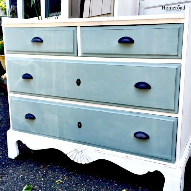 A Ballard Inspired Two Toned Dresser Makeover