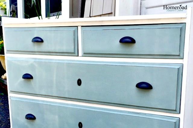 A Ballard Inspired Two Toned Dresser Makeover