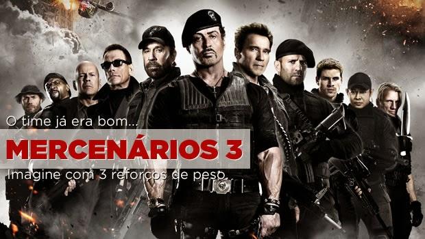 Os Mercenários 3 já está na internet em PHiltonBrasil
